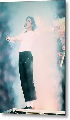 Micheal Jackson Performing On Stage Metal Print by Retro Images Archive