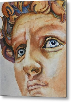 Michelangelo's David In Color Metal Print