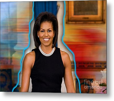 Michelle Obama Metal Print by Marvin Blaine