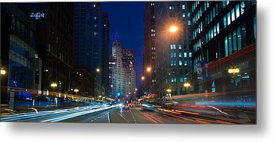 Michigan Avenue Chicago Metal Print by Steve Gadomski