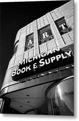 Metal Print featuring the photograph Michigan Book And Supply by James Howe