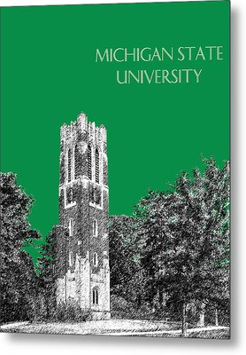 Michigan State University - Forest Green Metal Print by DB Artist
