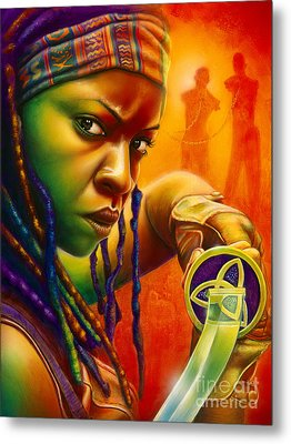 Michonne Metal Print by Scott Spillman
