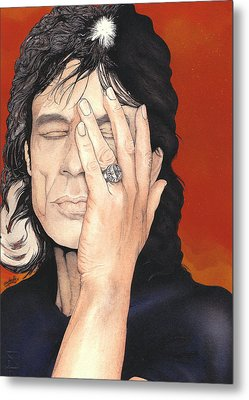 Mick Jagger Metal Print by Andrea Schiavetti