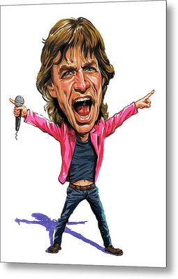 Mick Jagger Metal Print by Art