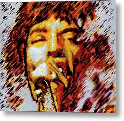 Mick Jagger Metal Print by Barry Novis