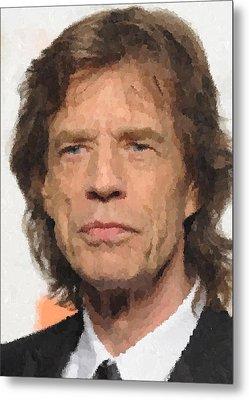 Mick Jagger Metal Print