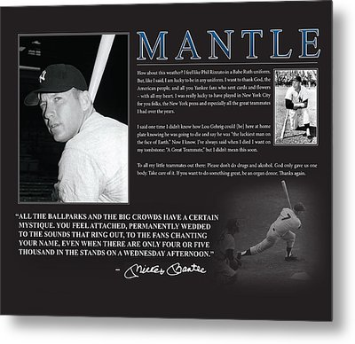 Mickey Mantle Metal Print by Retro Images Archive