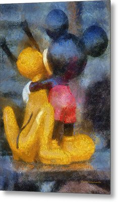 Mickey Mouse Photo Art Metal Print by Thomas Woolworth