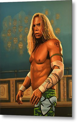 Mickey Rourke Metal Print by Paul Meijering