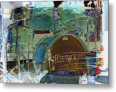 Mick's Drums Metal Print by Paulette B Wright