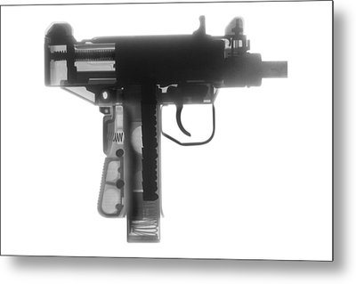 Micro Uzi X Ray Photograph Metal Print by Ray Gunz