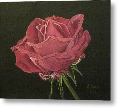 Metal Print featuring the painting Mid Bloom by Wendy Shoults