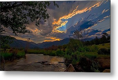 Mid-summer Sunset Metal Print by Darrell E Spangler