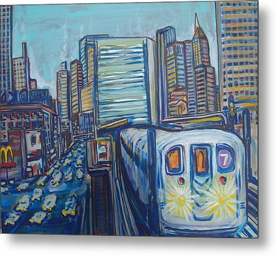 Mid-town Subway Tunnel Metal Print by Mitchell McClenney