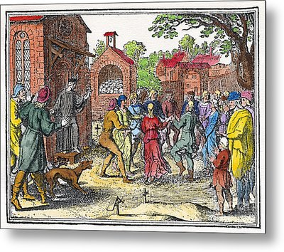 Middle Ages Dancing Mania Metal Print by Granger