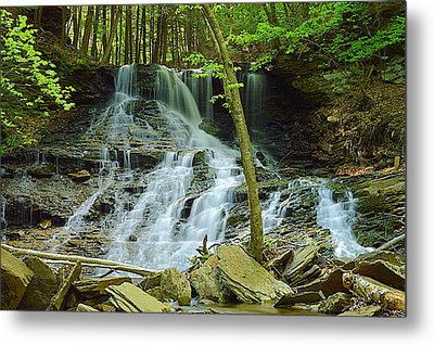 Middle Branch Falls Lower Tier #1 Metal Print
