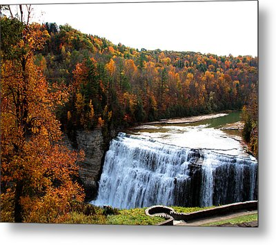 Metal Print featuring the photograph Middle Falls Letchworth State Park by John Freidenberg