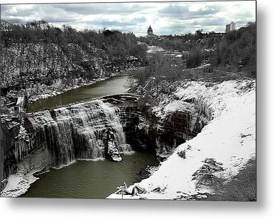Middle Falls Rochester Ny Metal Print by Richard Engelbrecht