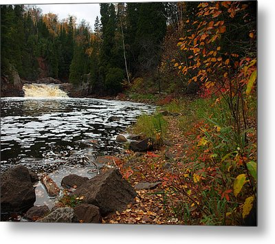 Middle Falls Tettegouche Metal Print by James Peterson