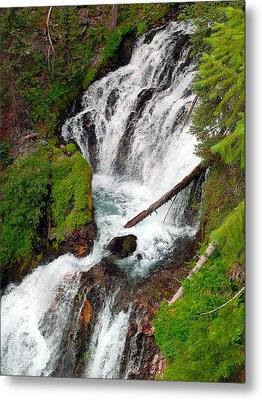 Middle Of Red Blanket Falls Metal Print by Teri Schuster