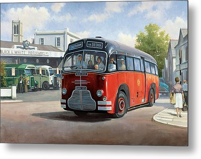 Midland Red C1 Coach. Metal Print by Mike  Jeffries