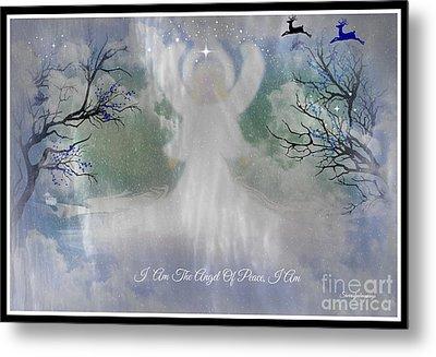 Midnight Angel Of Peace Metal Print by Sherri's Of Palm Springs