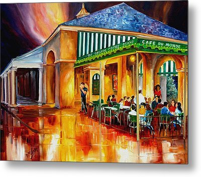 Midnight At The Cafe Du Monde Metal Print by Diane Millsap