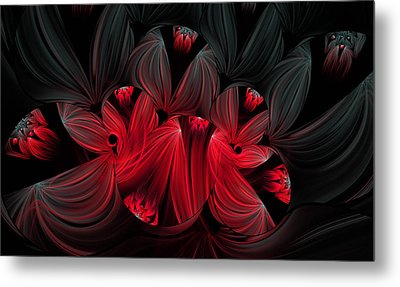 Midnight Blooms Metal Print