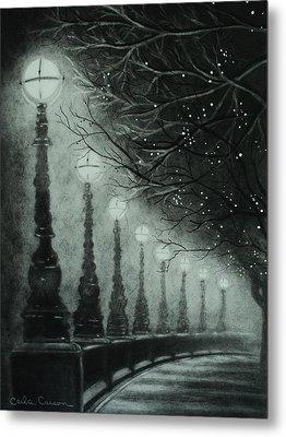 Midnight Dreary Metal Print by Carla Carson