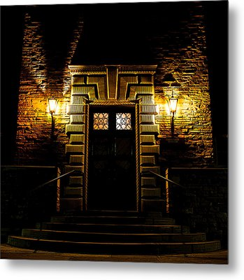 Metal Print featuring the photograph Midnight Entryway by Rhys Arithson