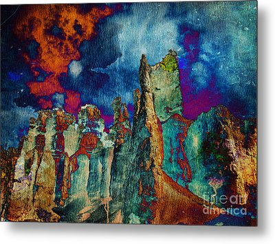 Midnight Fires Metal Print