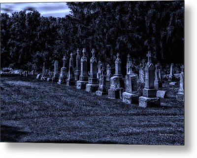 Midnight In The Garden Of Stones Metal Print by Thomas Woolworth