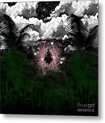 Midnight In The Wild Metal Print