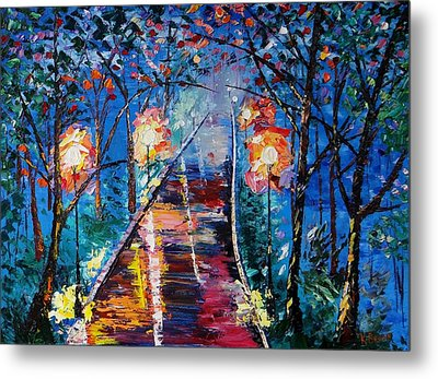 Midnight Lights Metal Print by Kevin  Brown