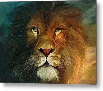 Lion Portrait Metal Print by James Shepherd