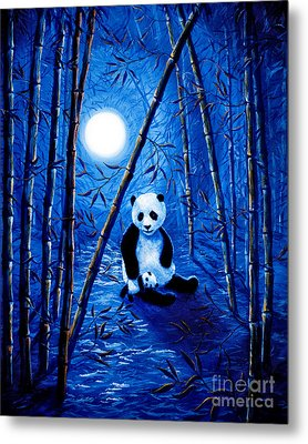 Midnight Lullaby In A Bamboo Forest Metal Print by Laura Iverson