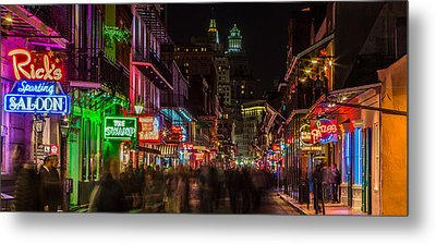 Midnight On Bourbon Street Metal Print