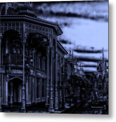 Midnight On Main Street Disney World Metal Print