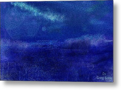 Midnight Sea Passage Metal Print by Greg Stew