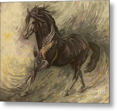 Midnight Metal Print by Silvana Gabudean Dobre