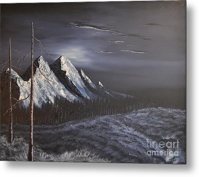 Metal Print featuring the painting Midnight by Stuart Engel