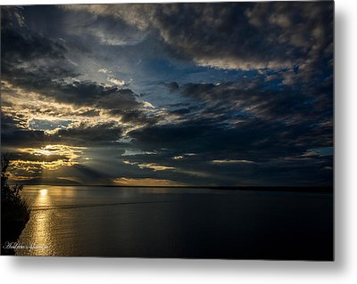 Midnight Sun Over Cook Inlet Metal Print