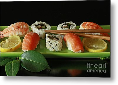 Midnight Sushi Indulgence Metal Print by Inspired Nature Photography Fine Art Photography