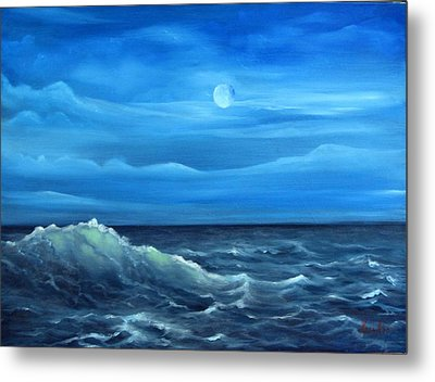 Midnight Wave Metal Print by Katia Aho