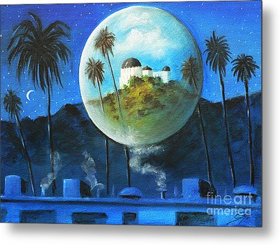 Metal Print featuring the painting Midnights Dream In Los Feliz by S G