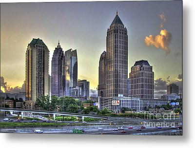 Midtown Atlanta Sunrise Metal Print by Reid Callaway