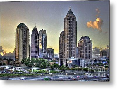 Midtown Atlanta Sunrise Metal Print