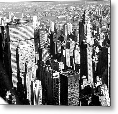 Midtown Manhattan 1972 Metal Print by Steve Archbold