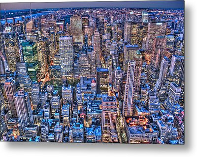 Midtown Manhattan Skyline Metal Print by Randy Aveille
